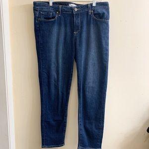 Paige jeans Kylie crop dark wash size 32